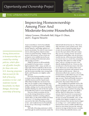 Improving Homeownership Among Poor and Moderate-Income Households