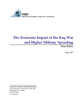 The Economic Impact of the Iraq War and Higher Military Spending