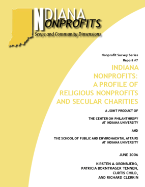 Indiana Nonprofits: A Portrait of Religious Nonprofits and Secular Charities