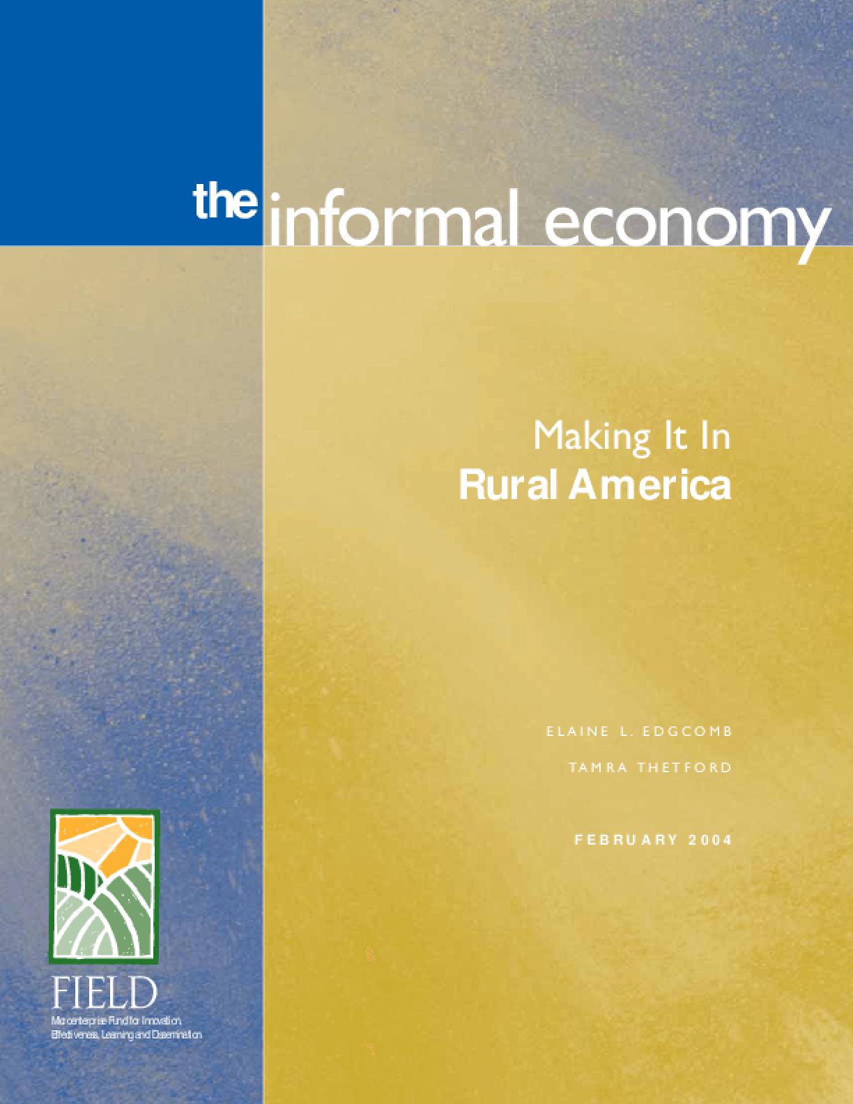 The Informal Economy: Making It in Rural America