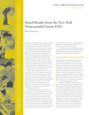 Initial Results From the New York Noncustodial Parent EITC