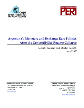 Argentina's Monetary and Exchange Rate Policies after the Convertibility Regime Collapse
