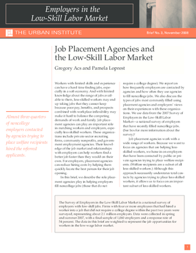 Job Placement Agencies and the Low-Skill Labor Market