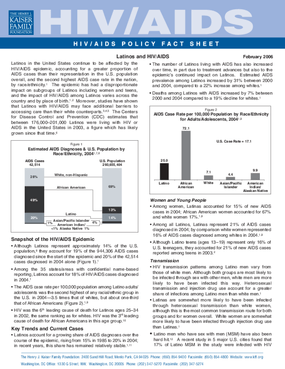 Latinos and HIV/AIDS: Fact Sheet