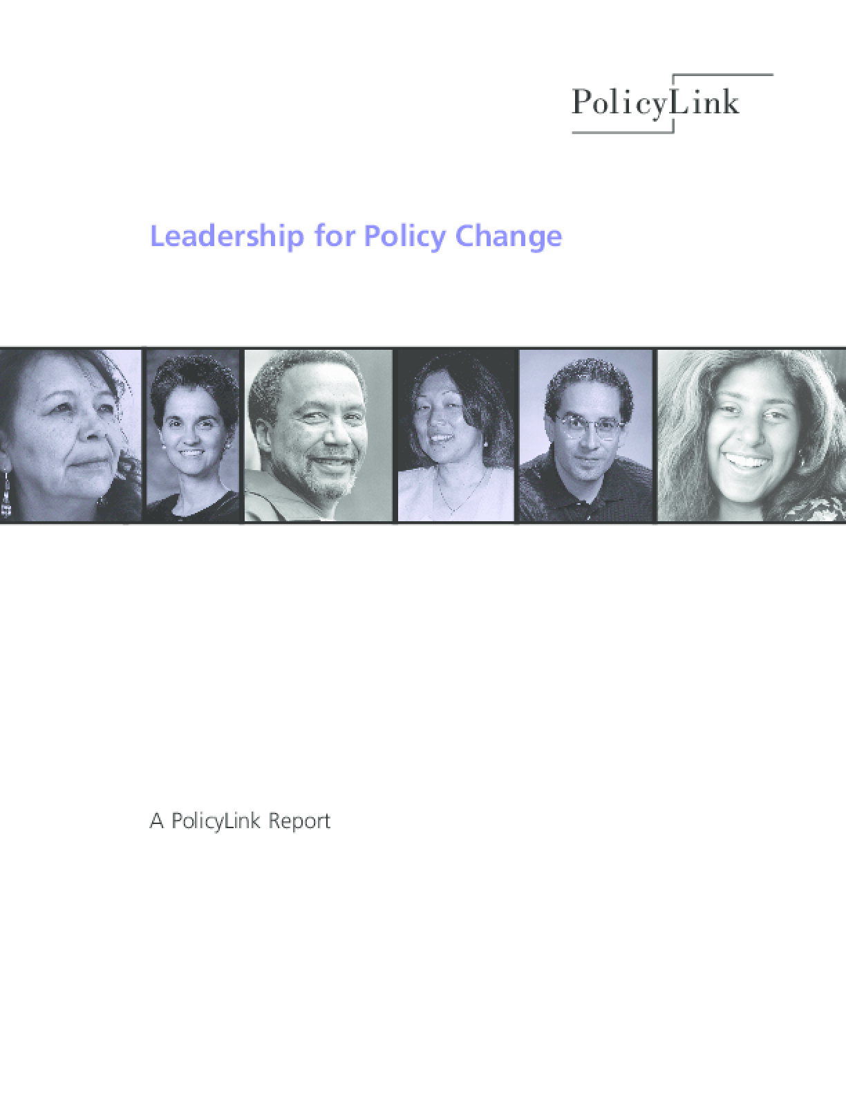 Thumbnail image of Leadership for Policy Change