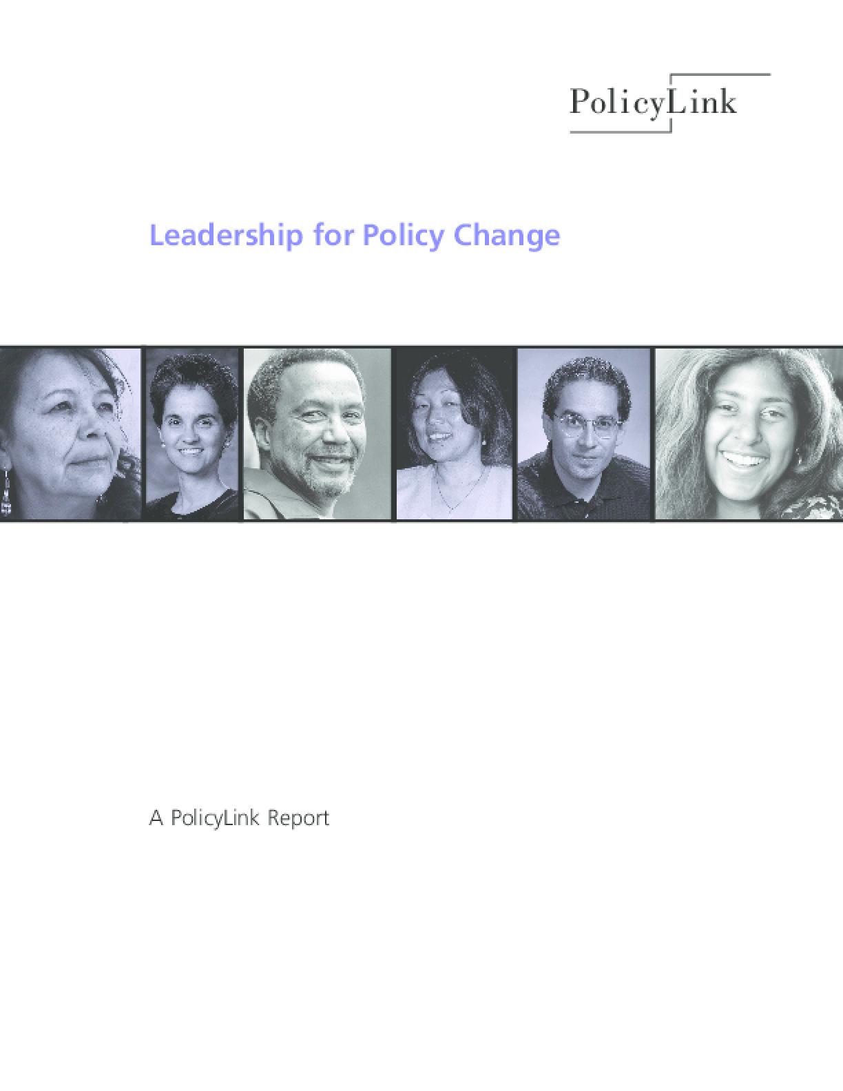 Thumbnail image ofLeadership for Policy Change