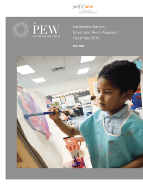 Leadership Matters: Governors' Pre-K Budget Proposals Fiscal Year 2010