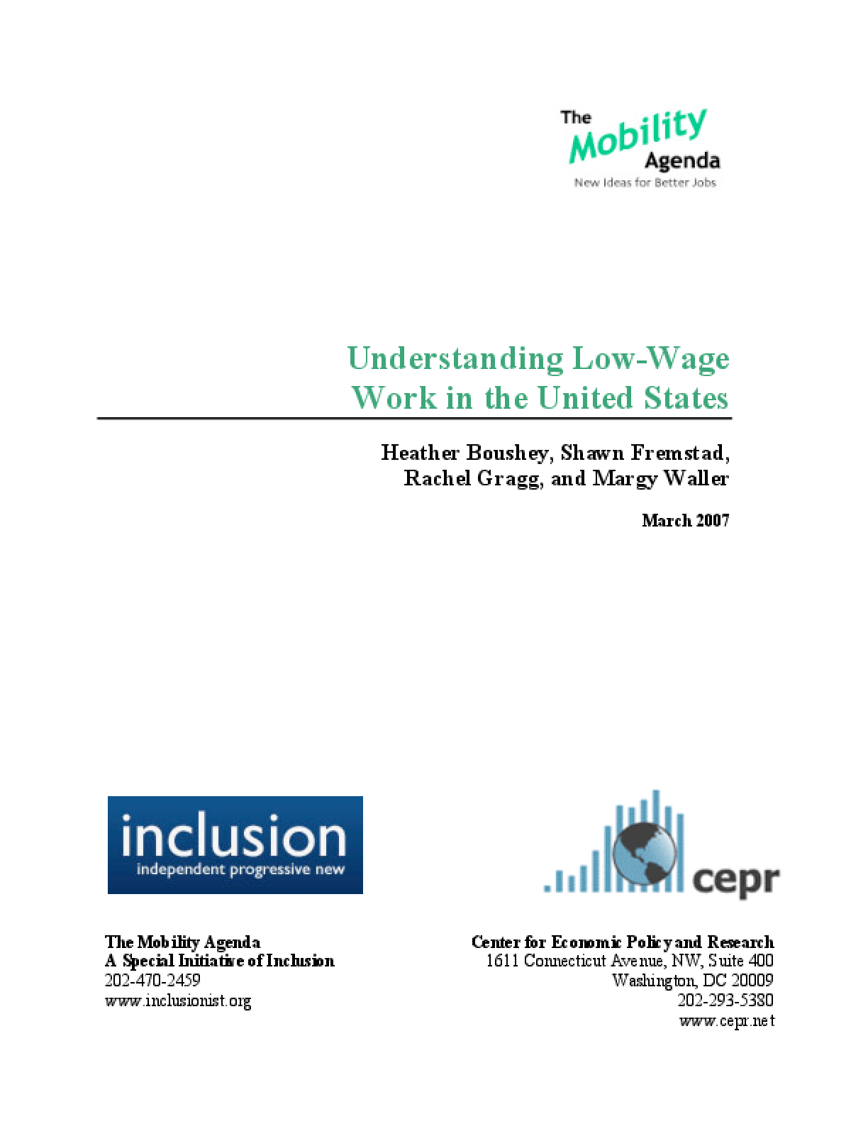 Understanding Low-Wage Work in the United States