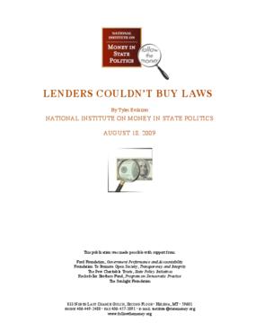 Lenders Couldn't Buy Laws