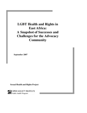 LGBT Health and Rights in East Africa: A Snapshot of Successes and Challenges for the Advocacy Community