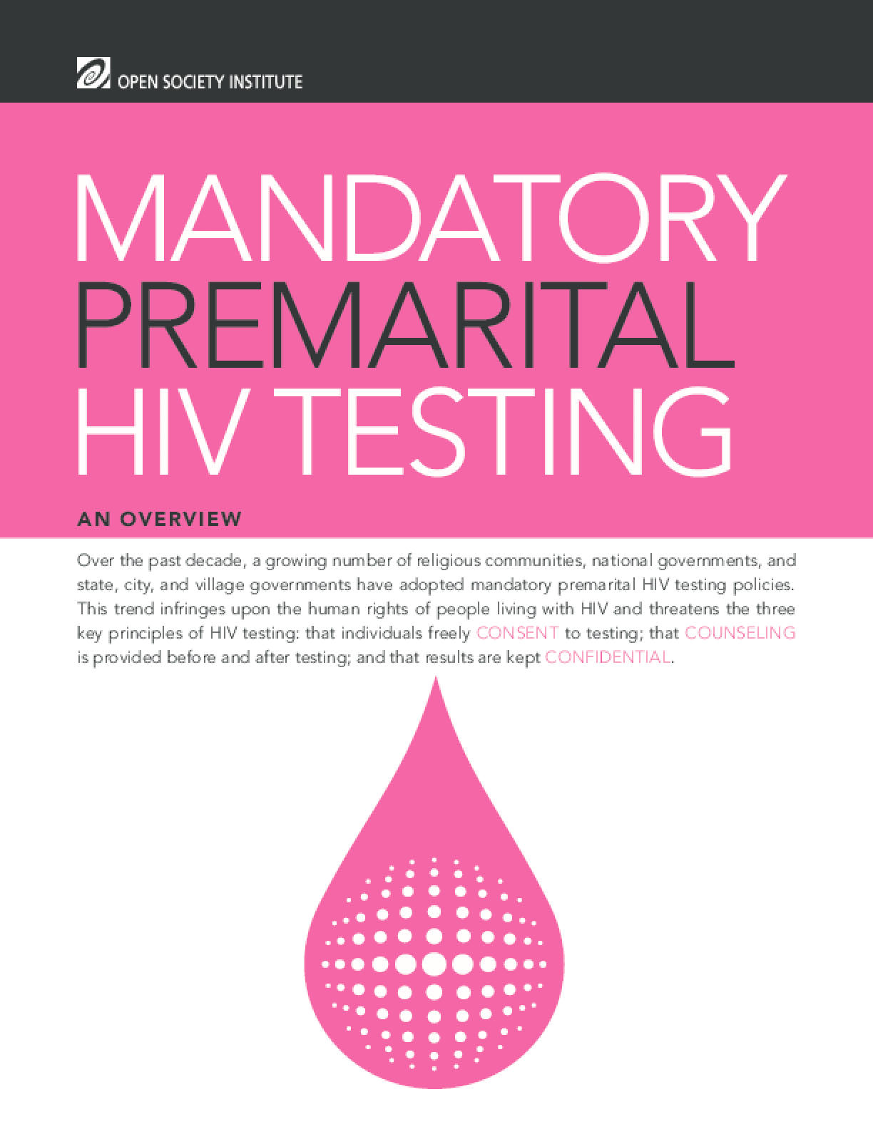 Mandatory Premarital HIV Testing: An Overview