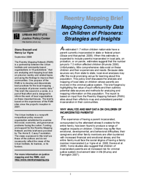 Mapping Community Data on Children of Prisoners: Strategies and Insights