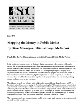 Mapping the Money in Public Media