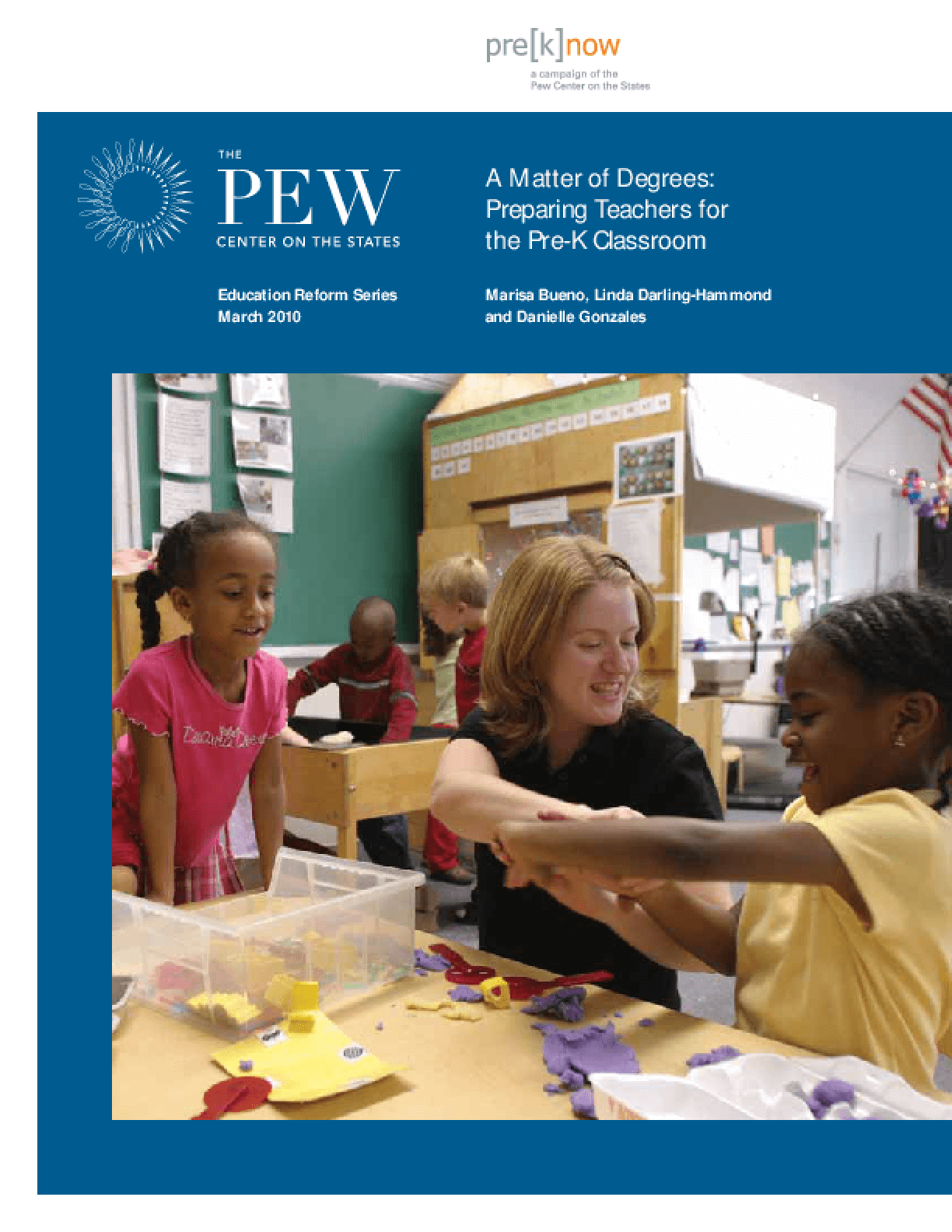 Matter of Degrees: Preparing Teachers for the Pre-K Classroom, A