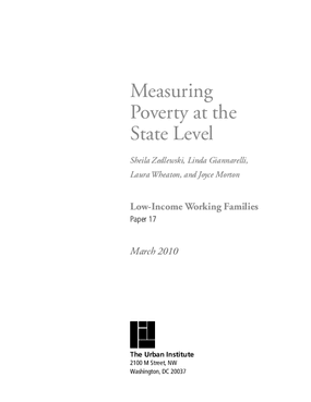 Measuring Poverty at the State Level