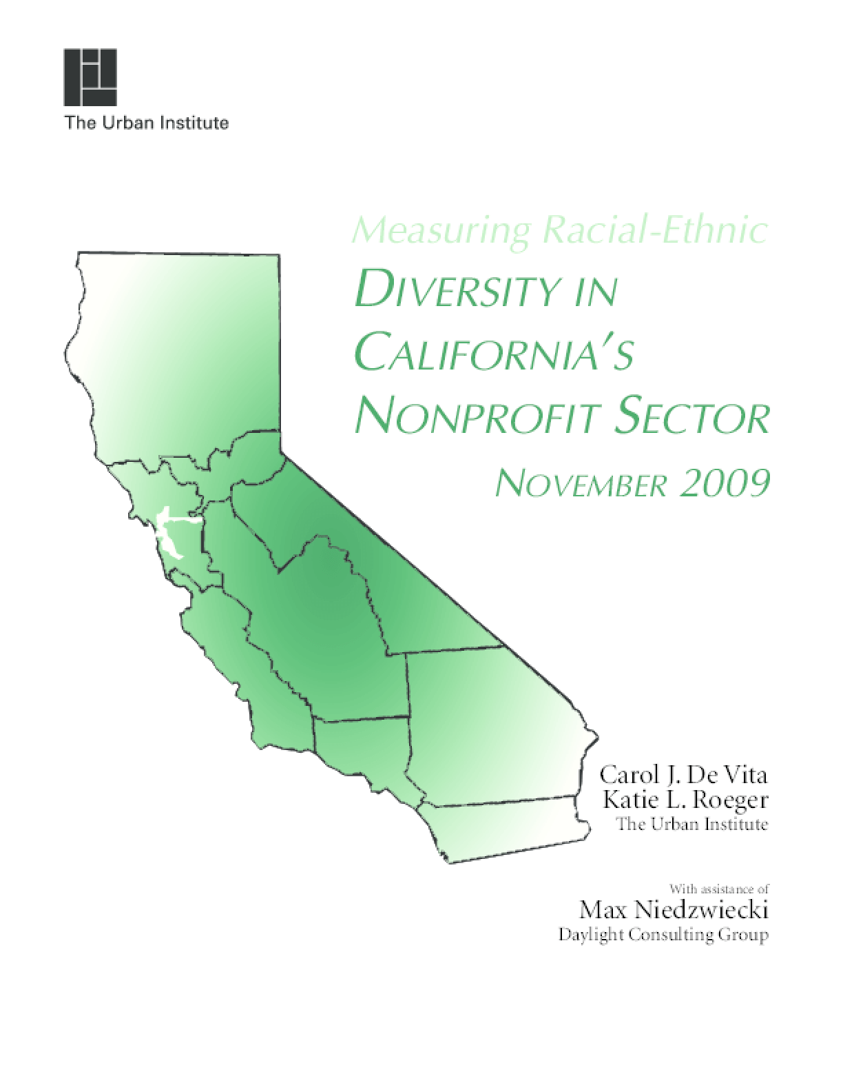 Measuring Racial-Ethnic Diversity in California's Nonprofit Sector