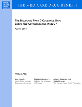 The Medicare Part D Coverage Gap: Costs and Consequences in 2007