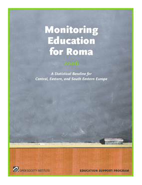 Monitoring Education for Roma: A Statistical Baseline for Central, Eastern, and South Eastern Europe