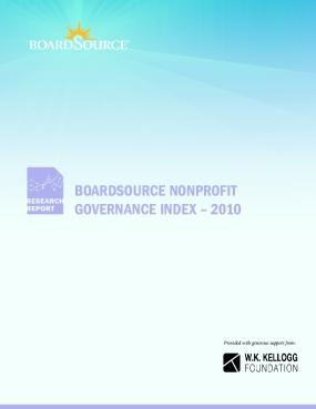 BoardSource Nonprofit Governance Index 2010