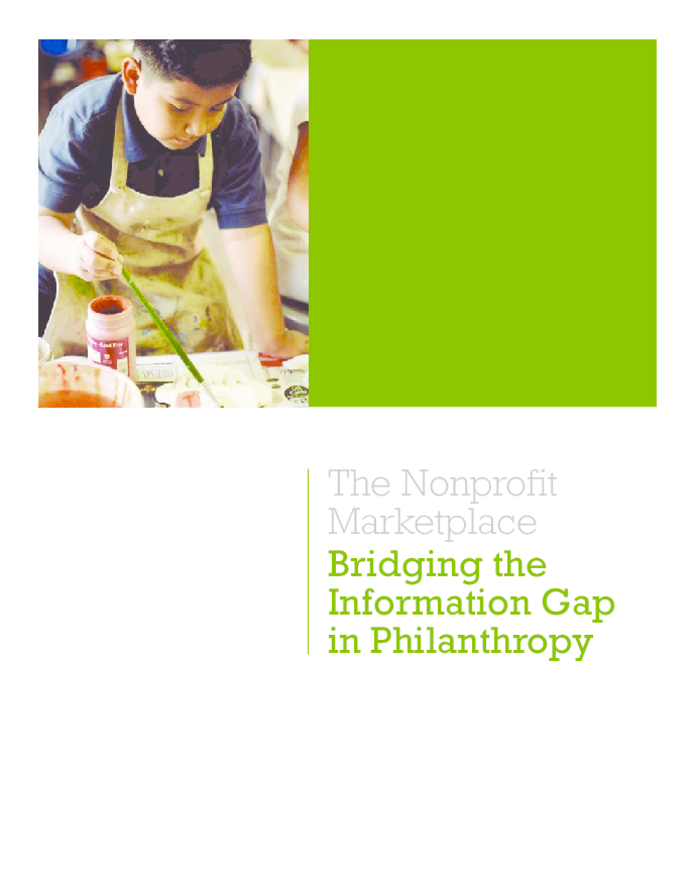 The Nonprofit Marketplace: Bridging the Information Gap in Philanthropy