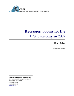 Recession Looms for the U.S. Economy in 2007