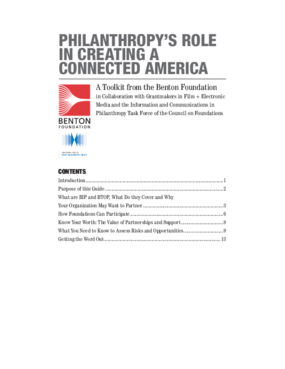 Philanthropy's Role in Creating a Connected America