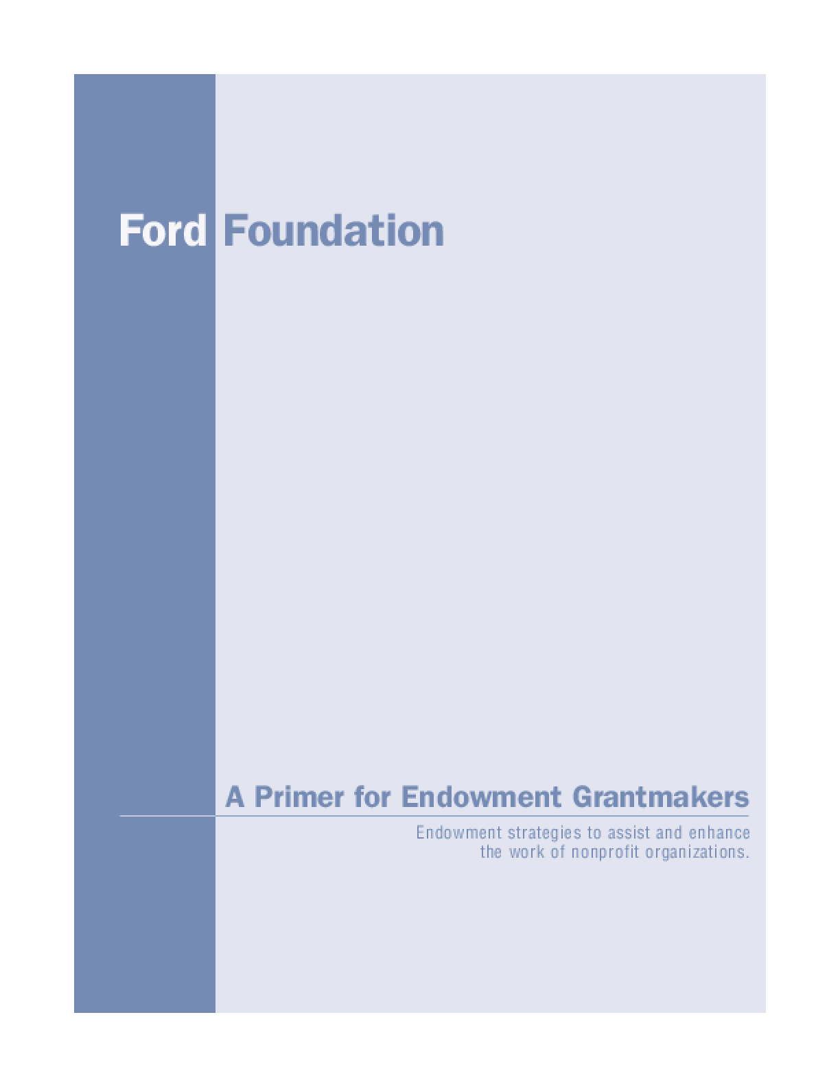 A Primer for Endowment Grantmakers