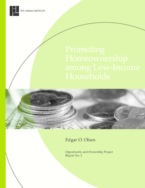 Promoting Homeownership Among Low-Income Households