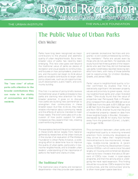 The Public Value of Urban Parks