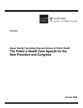 The Public's Health Care Agenda for the New President and Congress