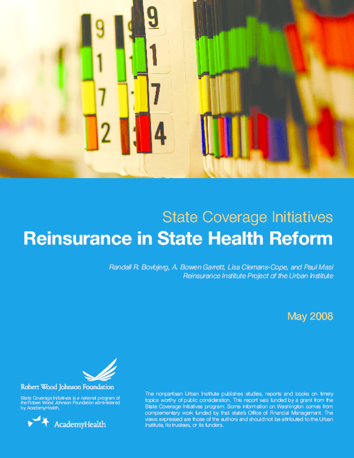 Reinsurance in State Health Reform