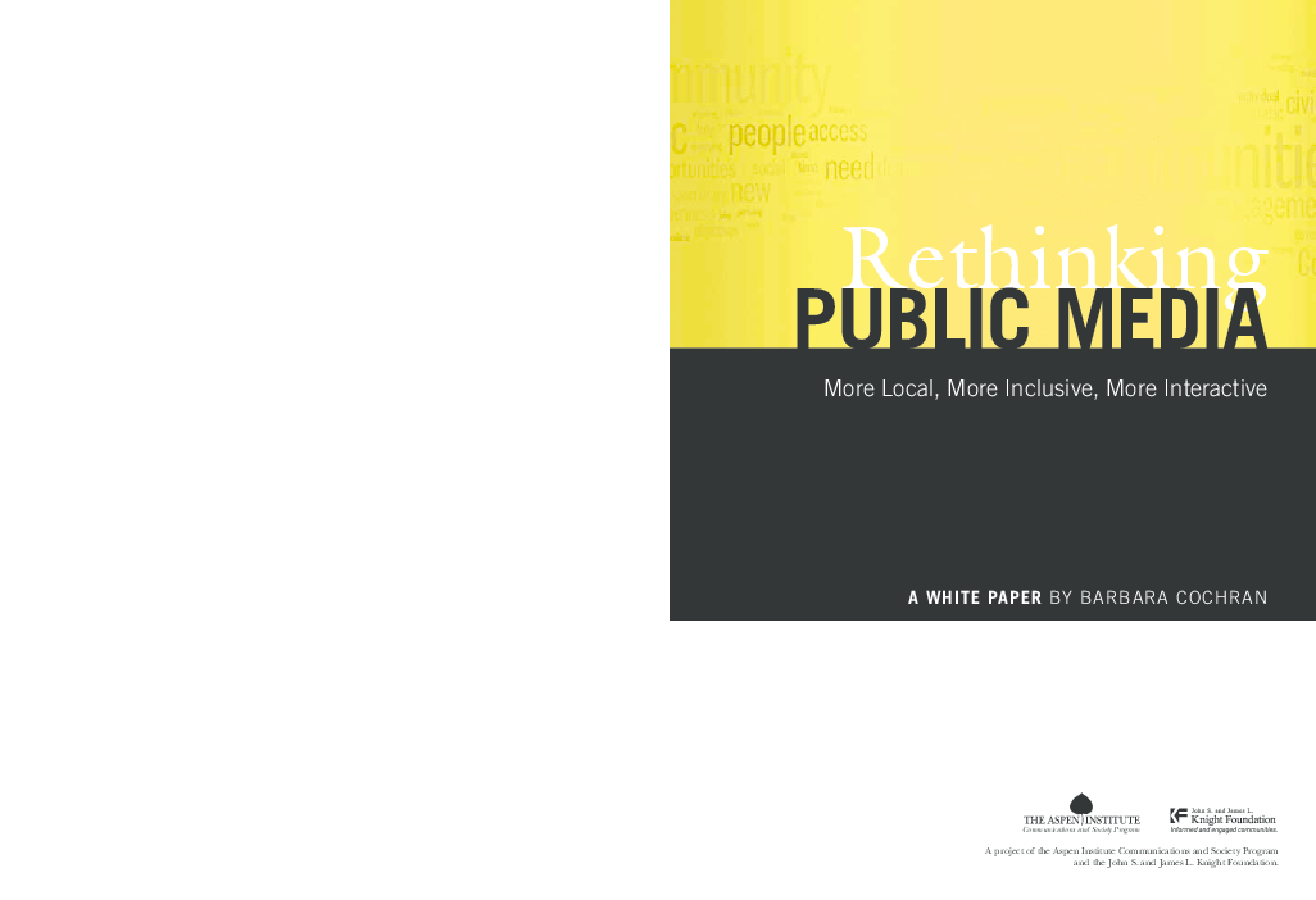 Rethinking Public Media: More Local, More Inclusive, More Interactive