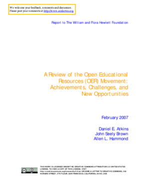 A Review of the Open Educational Resources (OER) Movement: Achievements, Challenges, and New Opportunities