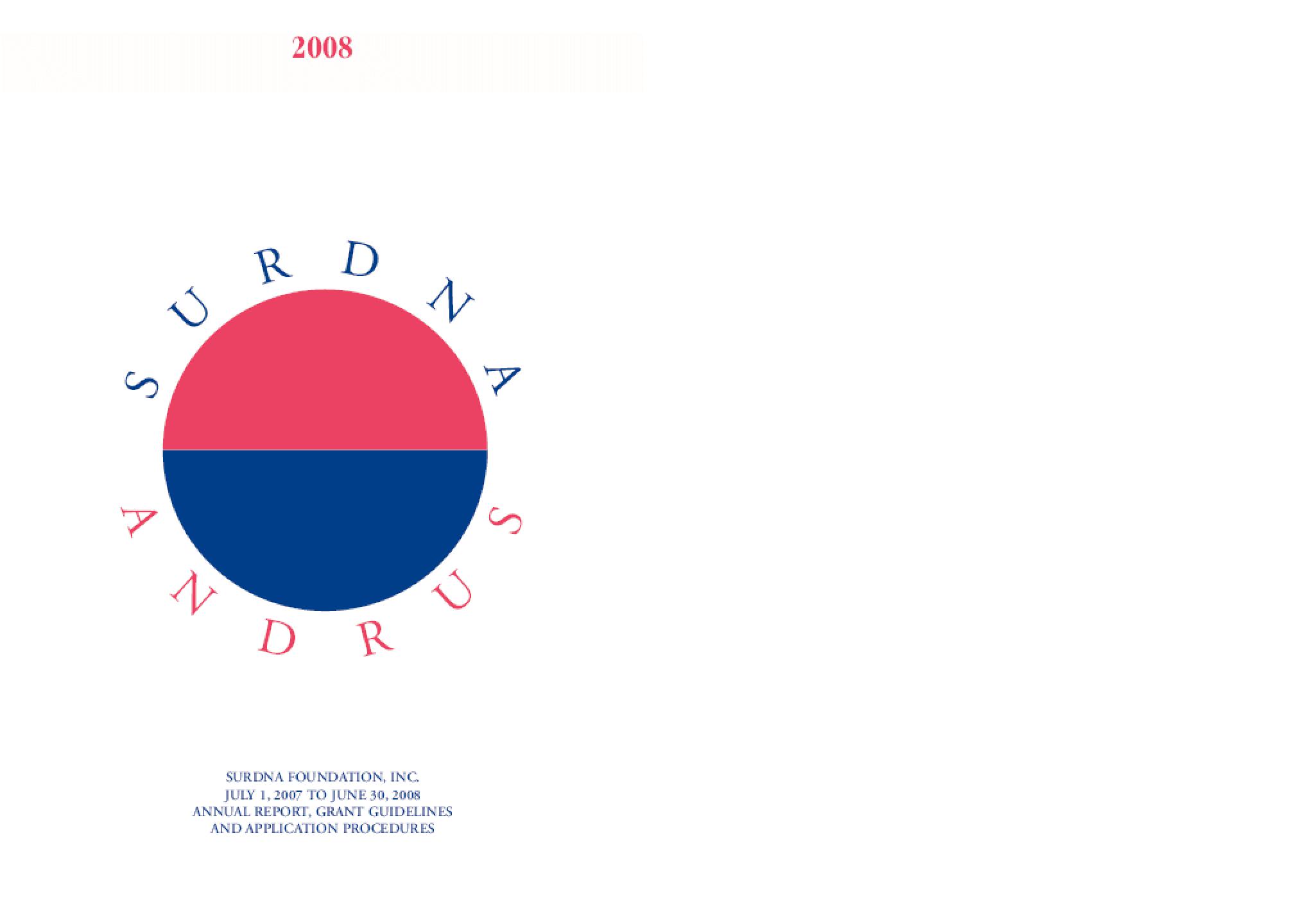 Surdna Foundation - 2008 Annual Report
