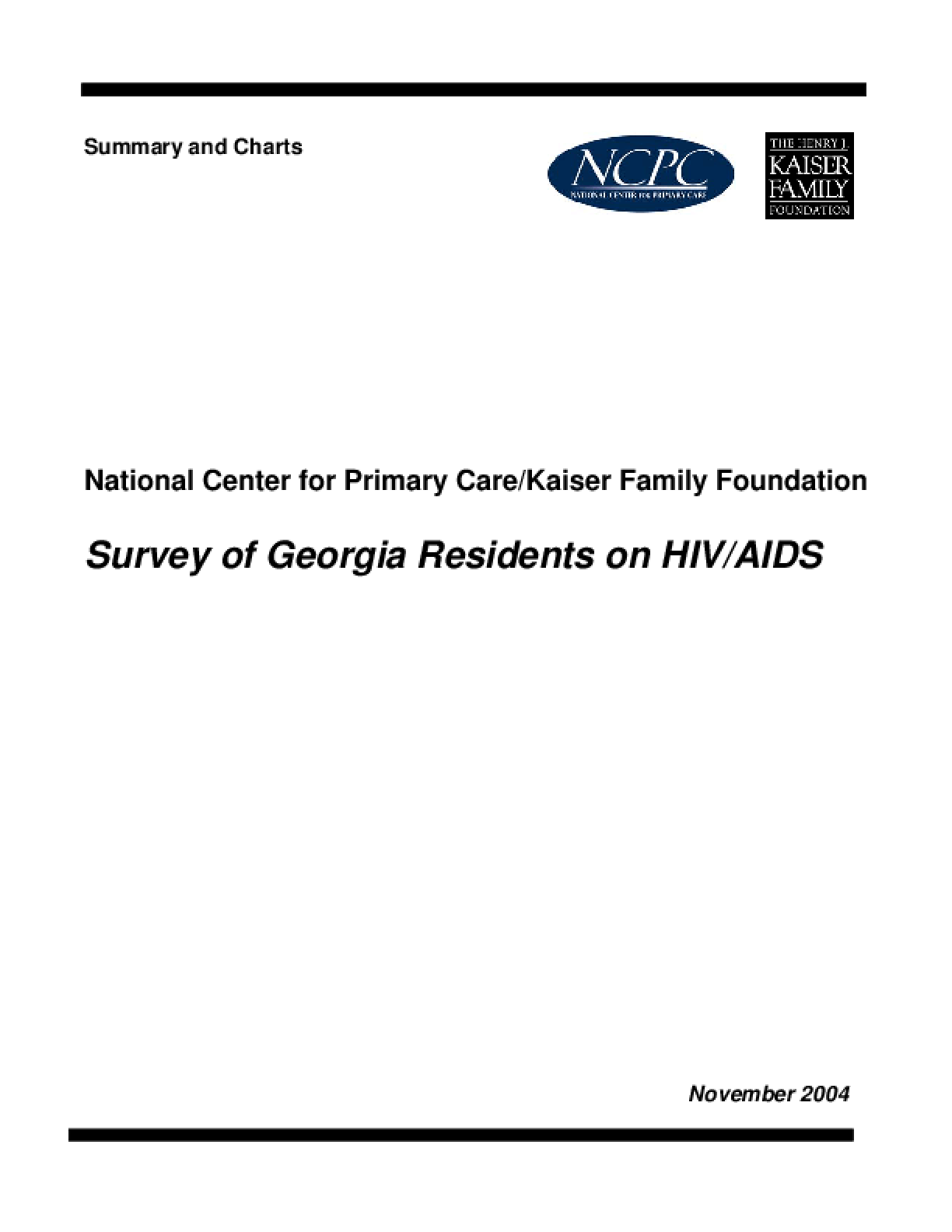 Survey of Georgia Residents on HIV/AIDS