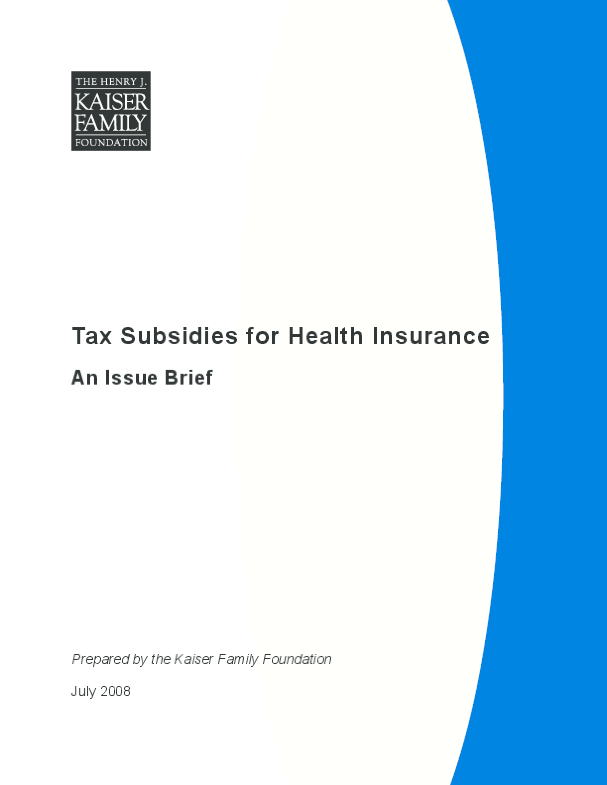 Tax Subsidies for Health Insurance
