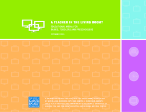 A Teacher in the Living Room? Educational Media for Babies, Toddlers, and Preschoolers