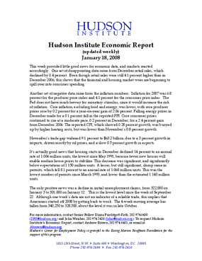 Hudson Institute Economic Report 01-18-2008