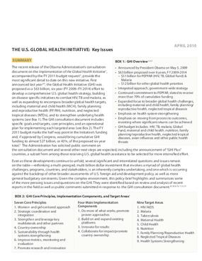 The U.S. Global Health Initiative: Key Issues