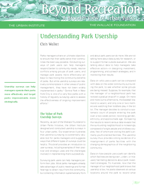 Understanding Park Usership
