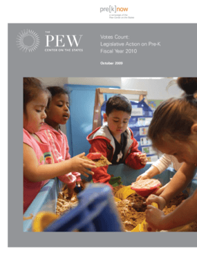 Votes Count: Legislative Action on Pre-K Fiscal Year 2010