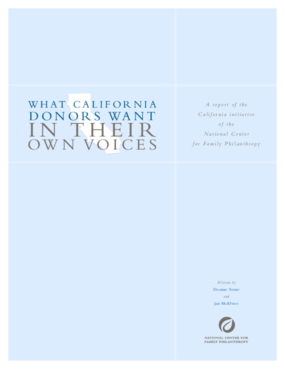 What California Donors Want: In Their Own Voices
