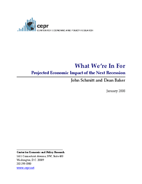 What We're In For: Projected Economic Impact of the Next Recession