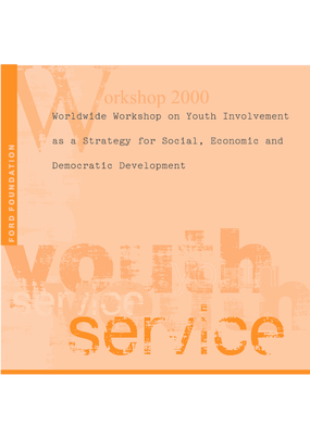 Worldwide Workshop on Youth Involvement as a Strategy for Social, Economic and Democratic Development