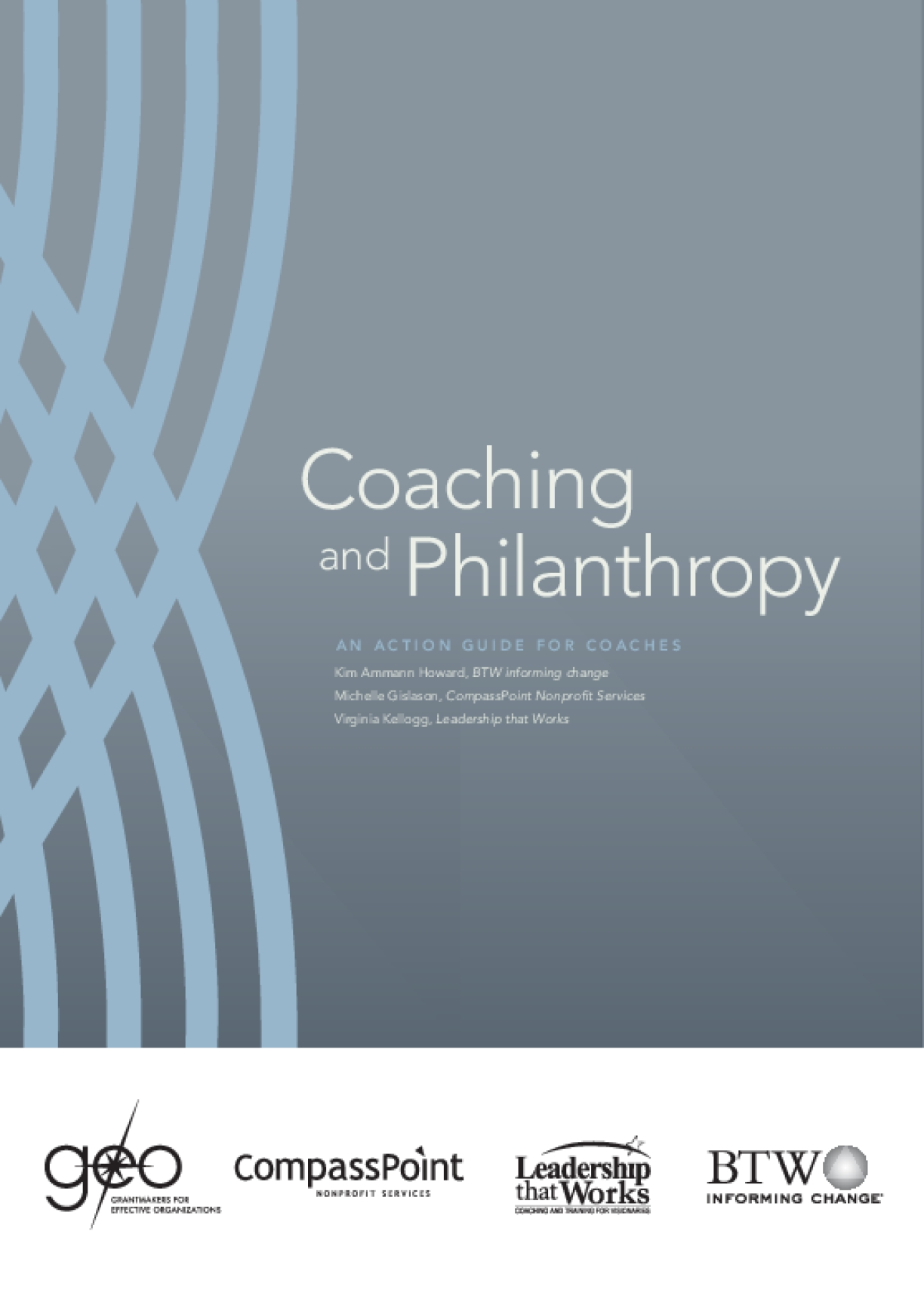 Coaching and Philanthropy: An Action Guide for Coaches