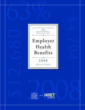 Employer Health Benefits 2008 Annual Survey