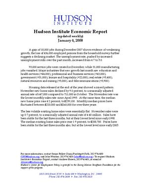Hudson Institute Economic Report 01-04-2008