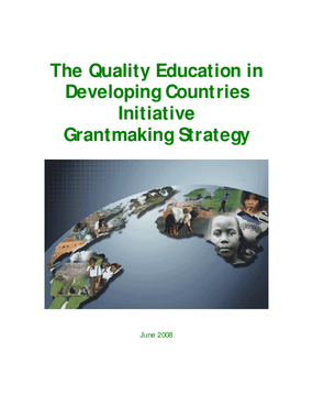 The Quality Education in Developing Countries Initiative Grantmaking Strategy