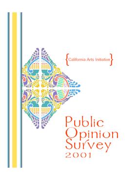 2001 Public Opinion Survey