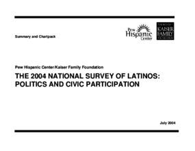 2004 National Survey of Latinos: Politics and Civic Participation